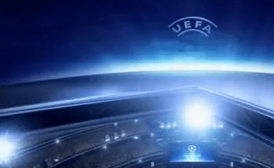 Логотип Лиги Чемпионов. Телекадр НТВ+