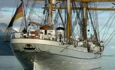 Парусное судно «Горх фок». Кадр с сайта youtube.com
