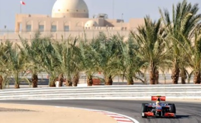 Трасса в Бахрейне. Кадр телеканала RTL