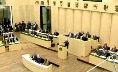 Заседание Бундестага. Телекадр N24