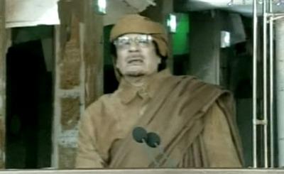 Муаммар Каддафи. Телекадр N24