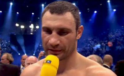 Виталий Кличко. Кадр телеканала RTL
