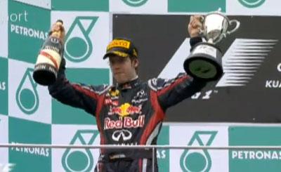 Себастьян Феттель - трехкратный чемпион Формулы 1. Кадр телеканала Sky Sport