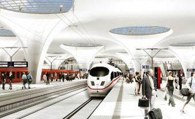 Визуализация вокзала «Штутгарт-21». Изображение с сайта bahnprojekt-stuttgart-ulm.de