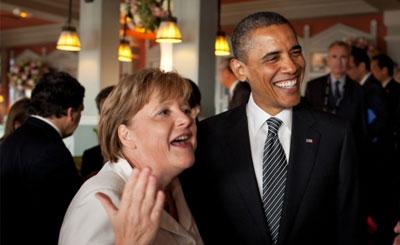 Канцлер ФРГ Ангела Меркель и президент США Барак Обама. Официальное фото с сайта whitehouse.gov