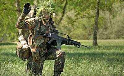 Солдат бундесвера. Фото с сайта bundeswehr.de Автор Sebastian Wilke