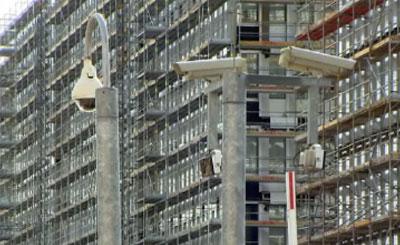 Строительство центра BND. Кадр телеканала n-tv