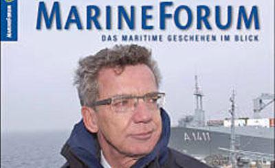 Фрагмент обложки журнала MarineForum с Томасом де Мезьером