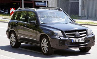 Шпионское фото Mercedes-Benz GLK с сайта autocarfans.com