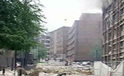Последствия взрыва в Осло. Кадр телеканала AP TN