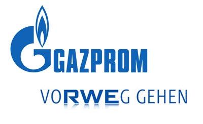 Логотипы «Газпром» и RWE