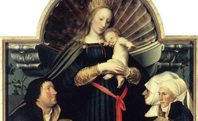 «Мадонна семьи Майер» Ганса Гольбейна-младшего. Фрагмент