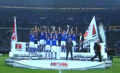 Шальке - победитель Суперкубка Германии 2011. Телекадр bundesliga.tv
