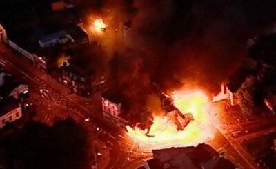 Пожар в Лондоне. Кадр телеканала BBC