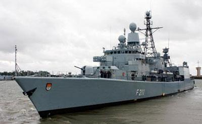 Фрегат «Кёльн». Изображение с сайта ВМС ФРГ marine.de