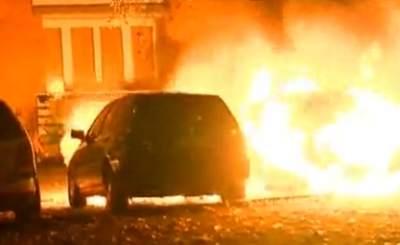 В Берлине вновь горят автомобили. Скриншот YouTube. Видео пользователя zoominde