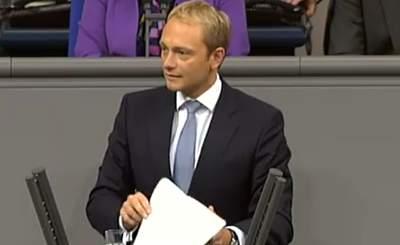 Кристиан Линднер. Скриншот Youtube, Видео пользователя FDP