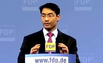 Министр экономики Германии Филипп Рёслер. Скриншот Youtube, видео пользователя FDP