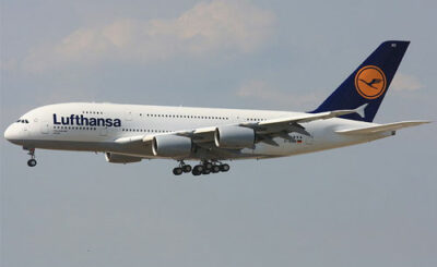 Самолет A380 авиакомпании Lufthansa. Фото с сайта wikipedia.org Автор Wo st 01