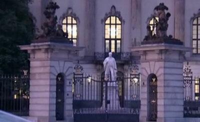 Университет имени Гумбольда в Берлине. Кадр телеканала n-tv