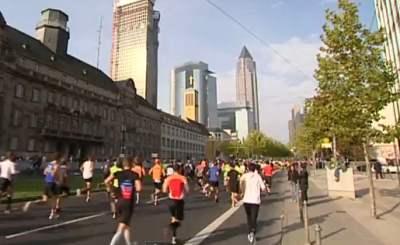 Берлинский марафон. Телекадр BMWTV