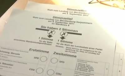 Социал-демократическая партия Германии одержала уверенную победу на выборах в Мекленбург-Передняя Померания. Телекадр dapdvideo