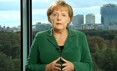 Ангела Меркель. Телекадр Youtube. Видео пользователя Redendatenbank