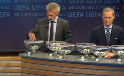 Немец Пол Брайтнер определяет судьбу участников Лиги Чемпионов. Телекадр Eurosport