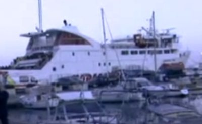 Costa Concordia. Скриншот Youtube. Видео пользователя pradeepsas1