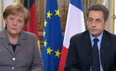 Ангела Меркель и Николя Саркози ответили на вопросы журналистов. Телекадр ZDF