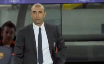 Главный тренер Челси Роберто Ди Маттео. Кадр телеканала Sky