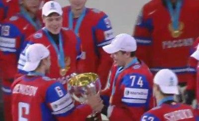 Россия - чемпион мира по хоккею. Кадр Первого телеканала