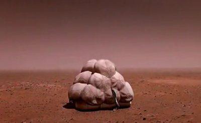 Имитация полета на Марс. Скриншот Youtube. Видео пользователя KOLKOLBUS