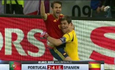 Испания - финалист Евро-2012. Кадр телеканала Sky
