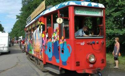 Музейные трамваи помогли частично восстановить движение во Франкфурте. Скриншот Youtube. Видео пользователя HorstHonig