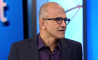 Satya Nadella. Видеокадр пользователя CNNMoney, YouTube
