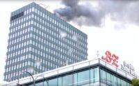 В Берлине пожарные потушили пожар в здании Europa-Center