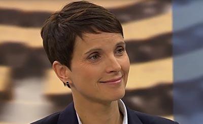Frauke Petry. Видеокадр пользователя Der deutsche Schäferhund, YouTube