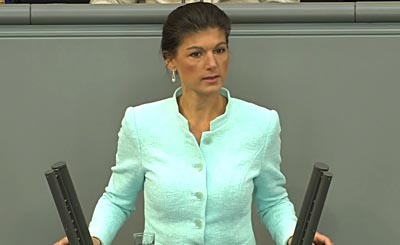 Sahra Wagenknecht. Видеокадр пользователя videomaxic, YouTube