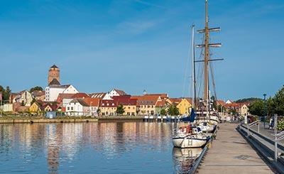 Гавань и старая часть города Вольгаст © Mattoff - Fotolia.com